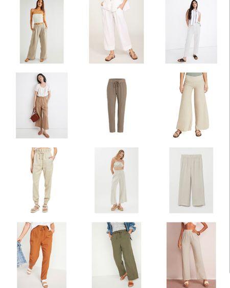 Wide leg linen pants for summer 🙌🏼 http://liketk.it/3hdsa #liketkit @liketoknow.it