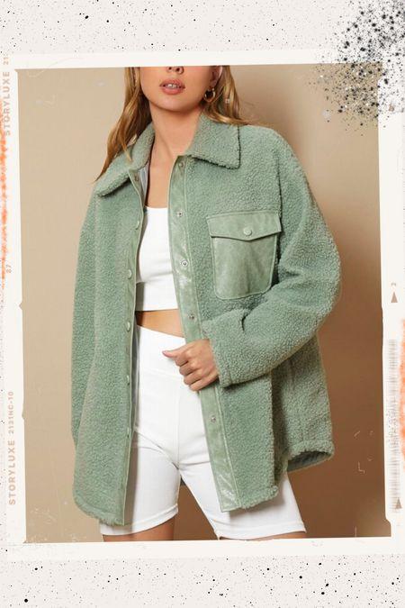 SHEIN Teddy coat! So cute for fall   #LTKunder50 #LTKstyletip