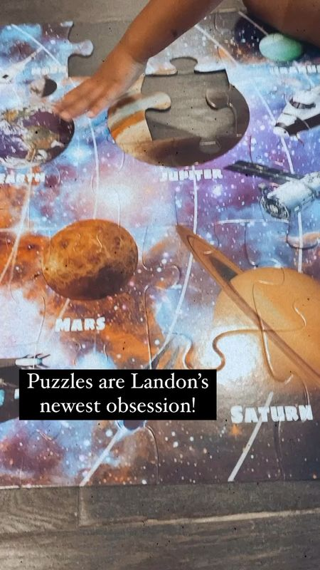Solar system floor puzzle is currently on sale for $8 right now!   #LTKkids #LTKfamily
