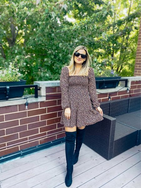 Smocked dress to wear now with sandals/sneakers or later with tights and boots!   #LTKSeasonal #LTKunder100 #LTKsalealert