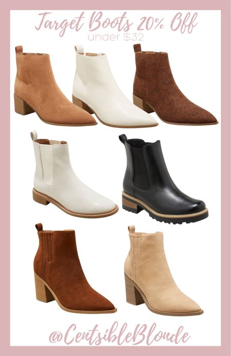 Target boots Booties Fall boots Winter boots Slip on boots Pointed toe boots Affordable boots  #LTKshoecrush #LTKSeasonal #LTKunder50