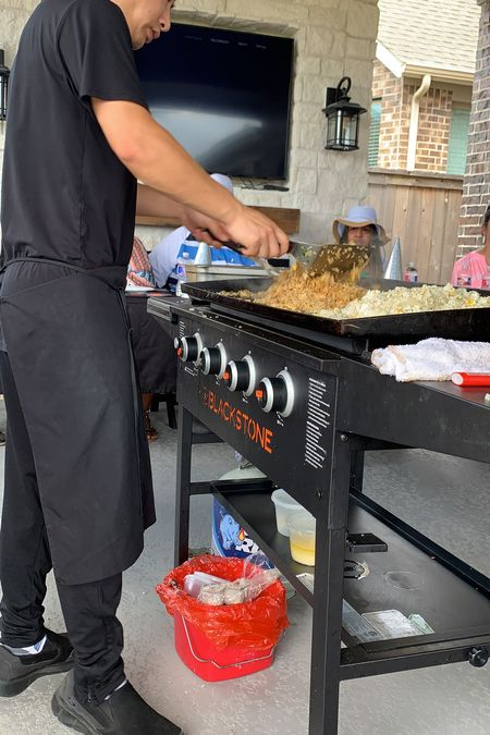 Habachi at Home, this Blackstone Grill was amazing. Cooked the food evenly. Food was delicious. #Hibachi #HibachiatHome #Parties #Grilling #OutdoorCooking #Foodie   #LTKkids #LTKfamily #LTKhome