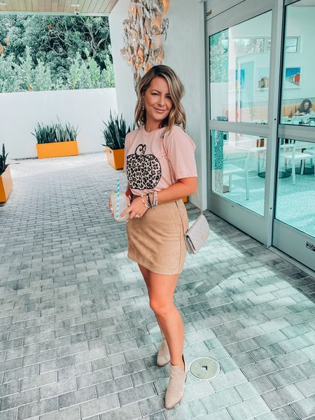 Halloween is in less than 7 days!!  PS: This pumpkin tee & suede skirt are a must have!   #LTKunder50 #LTKSeasonal #LTKstyletip