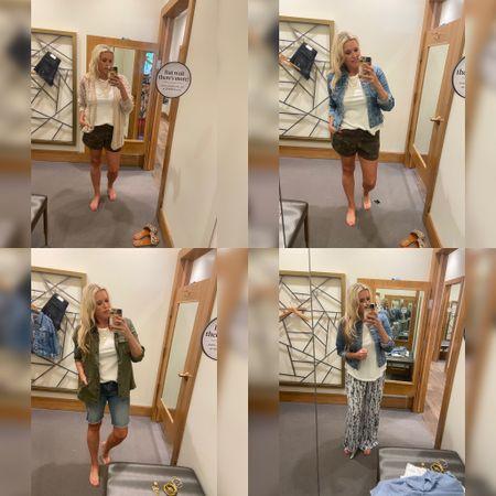 Evereve try on …. . Finding a Summer short… . .   #LTKstyletip