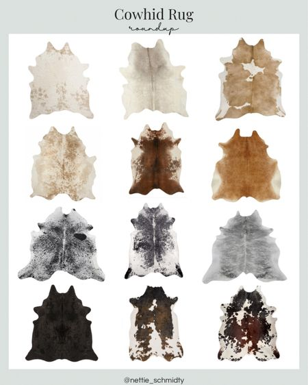Cowhide rugs! I love the cow hide rug in my office and in our breakfast nook. I've round up some great faux cowhide rugs and real cowhide rugs from speckled longhorn rugs, solid white and cream rugs, grey brindle cow hide, solid black rug, and black and white cowhides — you can find a color to go perfect in your space.  . Modern farmhouse style, farmhouse rug, office decor, neutral home decor, living room style http://liketk.it/3hfe9 Download the LIKEtoKNOW.it shopping app to shop this pic via screenshot #liketkit @liketoknow.it #LTKDay #LTKhome #LTKsalealert @liketoknow.it.home