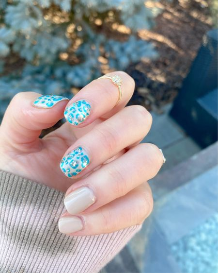 Spring nails. Spring manicure. Green manicure. St. Patrick's day nails. Red carpet manicure. Leopard print nails. Neutrals. http://liketk.it/39vTw #liketkit @liketoknow.it #LTKstyletip #LTKbeauty Follow me on the LIKEtoKNOW.it shopping app to get the product details for this look and others
