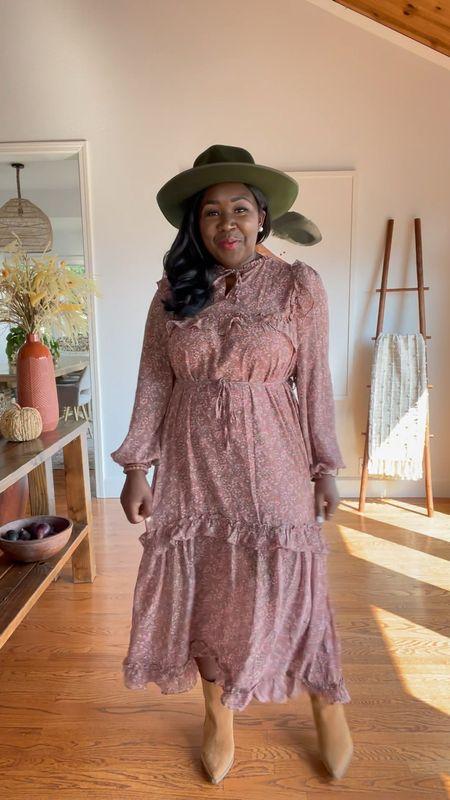 Shop Red Dress fall family outfit idea. Fall dress Mauve floral print 💗🍁  #LTKfamily #LTKSeasonal #LTKunder100