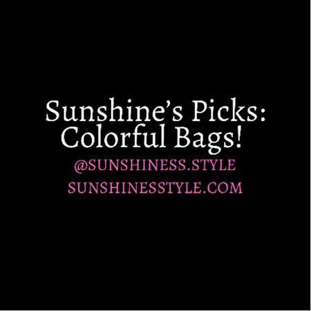 Colorful bags I'm LOVINGGG!!!!💖💖💖 Summer essentials linked! http://liketk.it/3hBXd #liketkit @liketoknow.it #LTKstyletip #LTKitbag #LTKfit