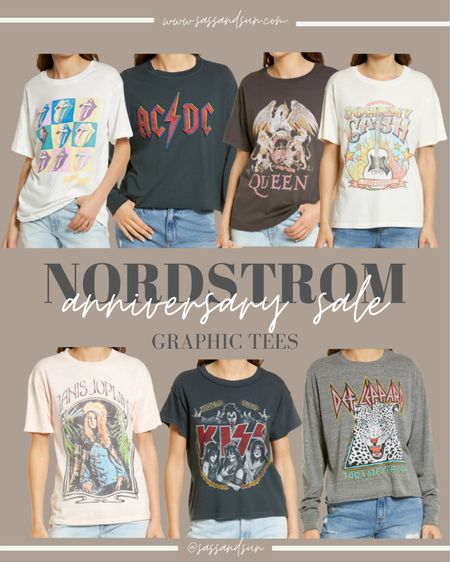 Nordstrom Anniversary Sale Graphic Tees #nsale  #LTKsalealert #LTKSeasonal #LTKunder50