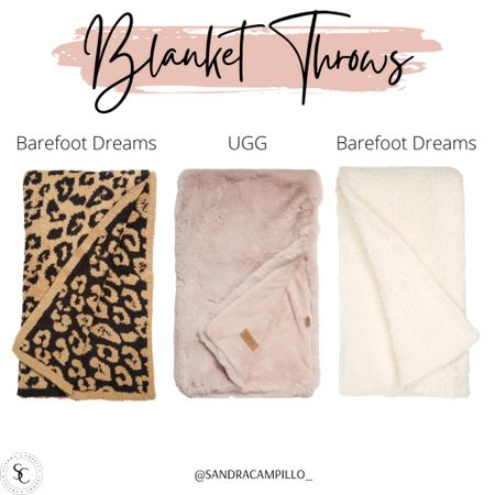Cute blanket throws from Barefoot Dreams and UGG.   #Nordstrom #Nordstromsale #BarefootDreams #UGG #blankets #pillow #blanketthrows #throwbkankets #throws  #LTKsalealert #LTKitbag #LTKhome