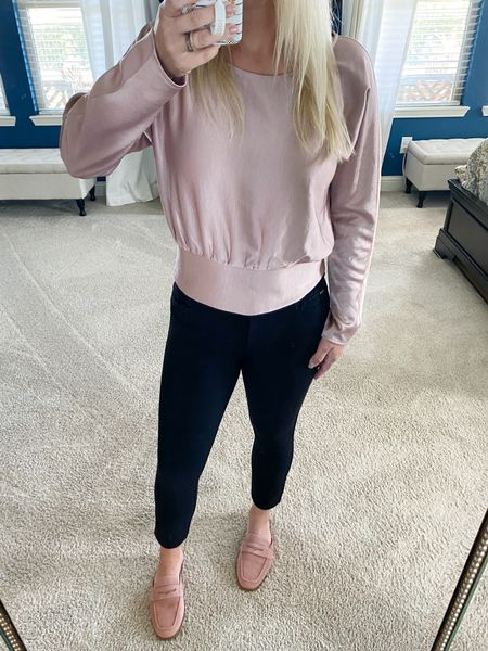 #Express is having an awesome fall #sale right now including this gorgeous top! It's only $35 right now and is oh so comfy and cute. It's the perfect work 👉🏼play top.     #LTKsalealert #LTKSeasonal #LTKunder50