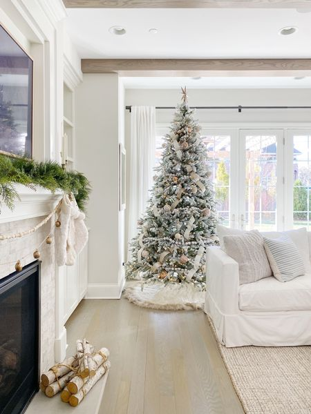 Found the best dupe for my flocked Christmas tree! Hurry and snag it while it's still in stock!!   #fauxchristmastree #flockedtree #christmasdecor  #LTKHoliday #LTKhome