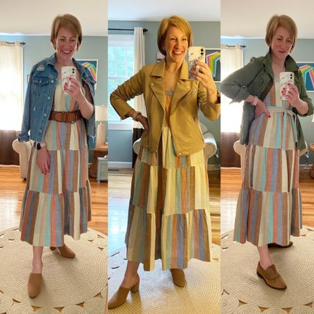 Dress sold out from Free Assembly Jackets all linked and all size M. Shoes from JCrew (older) Belt vintage