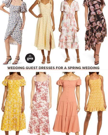 Lots of options for spring or summer weddings!!   Spring wedding guest dresses  #weddingguestdresses #wedding #springwedding #summerwedding  #LTKwedding http://liketk.it/3br8o #liketkit @liketoknow.it