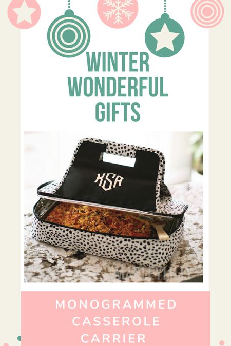 This leopard print monogrammed casserole carrier is the perfect holiday gift for the woman who loves to entertain!  #LTKGiftGuide #LTKSeasonal #LTKHoliday