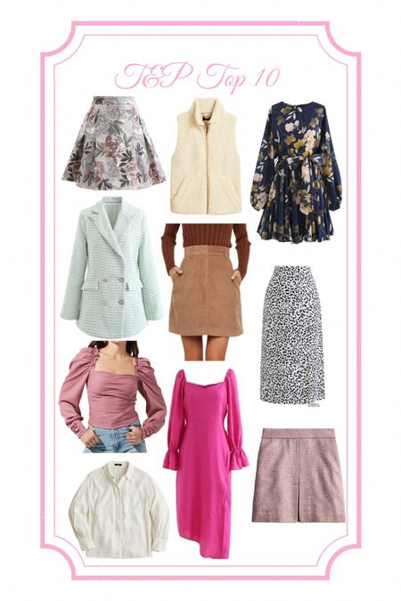 Fall outfit, fall fashion, floral dress, fall floral, navy dress, faux fur dress, vest, tweed blazer, tweed jacket, double breasted blazer, cheetah skirt, leopard skirt, midi skirt, puff sleeve, chicwish, floral skirt, petal and pup, corduroy skirt, pink dress, tweed skirt, white button down, white blouse, JCrew, JCrew sale  #LTKfit #LTKbacktoschool #LTKunder100  #LTKfit #LTKbacktoschool #LTKSeasonal