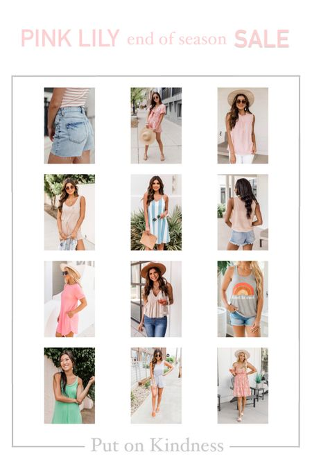 Cute graphic tee. Kind is cool. Pink Lily Boutique end of season sale. Denim cut off shorts. Romper. Summer dress. Cotton casual dress. Sundress.   #LTKsalealert #LTKunder50 #LTKfamily