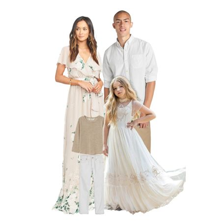 What to Wear | Family Photos with creams and neutral florals  #LTKstyletip #LTKkids #LTKfamily