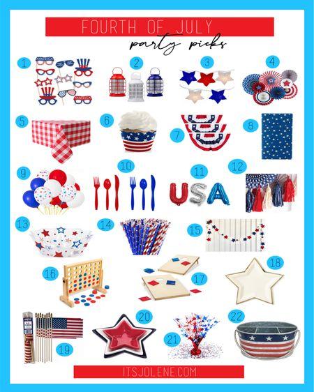 Fourth of July Party Picks! (For links to all 22 products visit —> itsjolene.com)   http://liketk.it/3isJc #liketkit @liketoknow.it   #LTKhome #LTKunder50 #LTKSeasonal