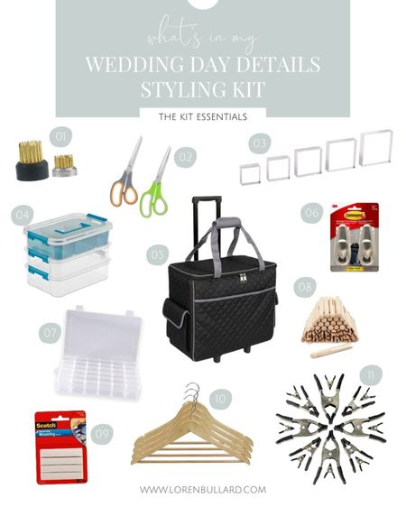 What I keep in my wedding day details kit ✨