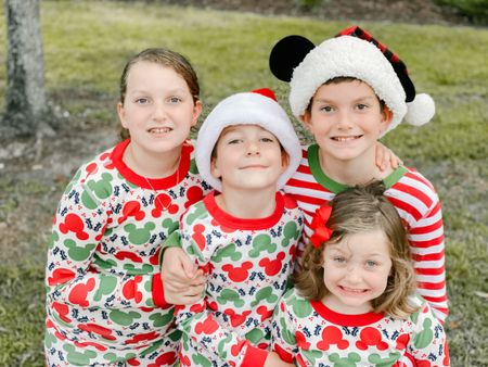 Do you have a favorite #christmastradition ? Matching Christmas pjs is an annual tradition for us that I will do even when they get older and don't want to match anymore.  We love these Mickey Christmas pjs from Hanna Andersson!   #LTKkids #LTKfamily #LTKbaby