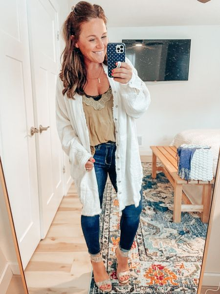 Layering tanks for fall! I love transition tanks that I can pair with jean shorts or my favorite blue jeans. This top is still on sale @nordstrom!  #LTKunder100 #LTKworkwear #LTKsalealert