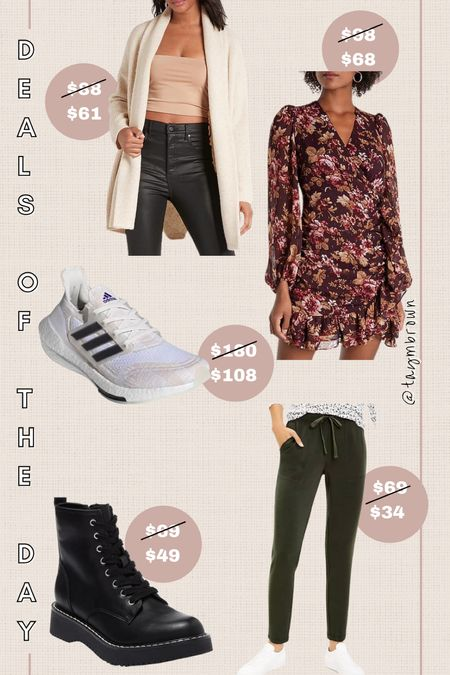Daily deals, deals of the day Fall dress, fall wedding guest dress Ultra boost sneakers, running sneakers Combat boots, doc marten dupe  Cardigan, coatigan     #LTKunder100 #LTKunder50 #LTKsalealert