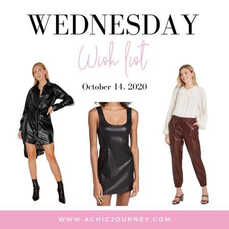 Wednesday Wish List: Faux Leather Edition http://liketk.it/2ZLBL #liketkit #LTKunder50 #LTKunder100 #StayHomeWithLTK #fauxleather @liketoknow.it