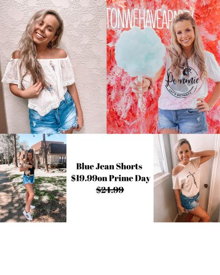 These are my favorite blue Jean shorts or the summer! Love them so much! Wearing a large.    http://liketk.it/3i7EA #liketkit @liketoknow.it #LTKsalealert #LTKstyletip #LTKunder50