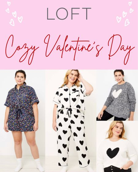 """Whether you're with your boo, your gal pals, or your furry friend, Valentine's Day is going to look a little different this year. Loft is having a 50% off sale with the code """"TREAT"""", so go grab some of these cozy Valentine's Day essentials before they sell out! ❤️  #StayHomeWithLTK #LTKsalealert #LTKcurves"""
