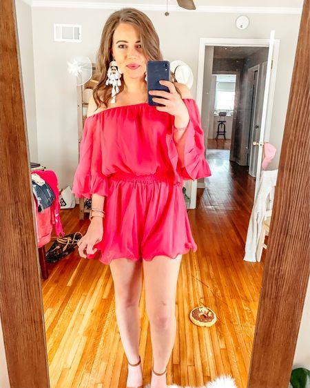 Red Dress Boutique try on — hot pink romper! Wearing size small. Very true to size, light weight & comfortable for summer! http://liketk.it/2D24v @liketoknow.it #liketkit #LTKsalealert #LTKshoecrush #LTKspring #LTKstyletip #LTKswim #LTKtravel #LTKunder50 #LTKunder100 #LTKwedding #LTKworkwear