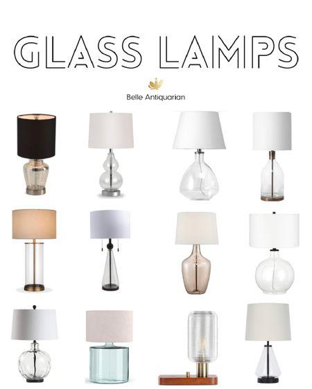 Glass lamps  #LTKhome #LTKstyletip #LTKfamily