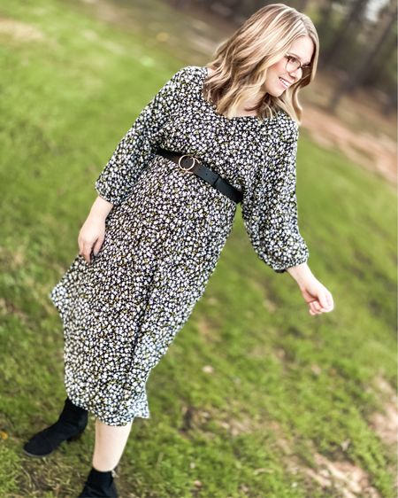 Walmart Time and Tru brand midi dress great for winter and spring!   Shop my daily looks by following me on the LIKEtoKNOW.it shopping app   http://liketk.it/36hYb #liketkit @liketoknow.it #LTKSeasonal #LTKshoecrush #LTKunder50