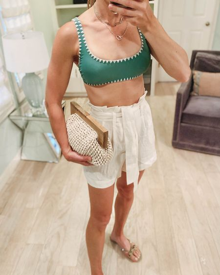 Summer beach vacation outfit idea all from target but the bow sandals that are from amazon. All under $50 http://liketk.it/3eH1O #liketkit @liketoknow.it #LTKunder50 #LTKstyletip #LTKsalealert