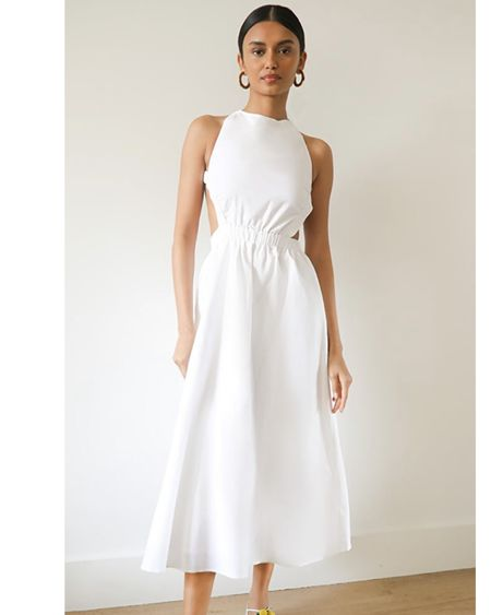 Love this open back dress! Ordered to bring to St Barts with me in a few weeks! Midi dress, white dress @liketoknow.it #liketkit http://liketk.it/3fYdQ