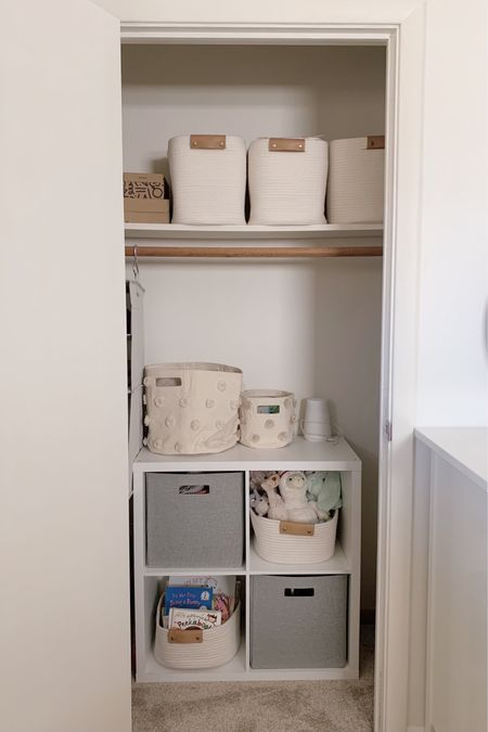 Simple closet storage solution   #LTKbaby #LTKkids #LTKhome