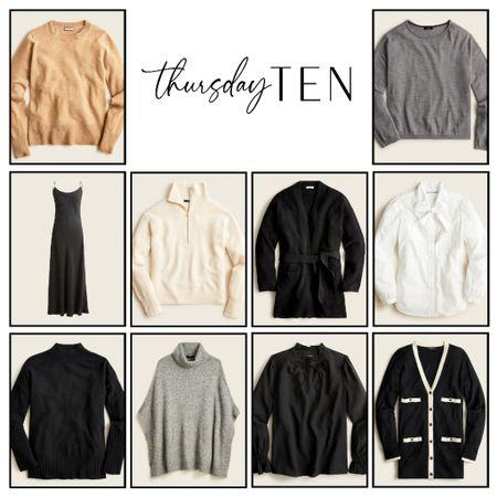Sweater, slip dress, cardigan, poncho, blouse, fall too, fall fashion, fall style, Jcrew   #LTKstyletip #LTKunder100 #LTKSeasonal