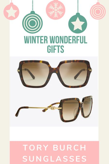 Tory Burch sunglasses make a great gift for your female friends!  #LTKGiftGuide #LTKHoliday #LTKSeasonal