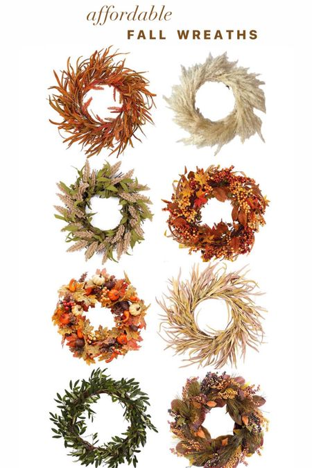 Affordable fall wreaths. Fall Home decor. Amazon finds. Target funds. Leaves. Pampas grass.  #LTKSeasonal #LTKhome #LTKunder50