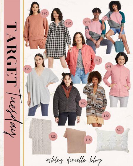 Target Tuesday finds - jackets, cardigans, sweatshirts, blankets, pillow!   #LTKstyletip #LTKunder50 #LTKSeasonal
