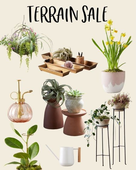 """Use code """"SEPTEMBER25"""" for 25% off your purchase on shopterrain.com now through 9/19. This is what I have in my cart. I love these plant stands, plant mister, watering can, plant tray, houseplant stakes, and hanging basket for houseplants. Houseplant, indoor plants, home decor, houseplant tools, houseplant watering can, houseplant mister, decorative watering can, indoor plant.   #LTKhome #LTKstyletip #LTKSale"""