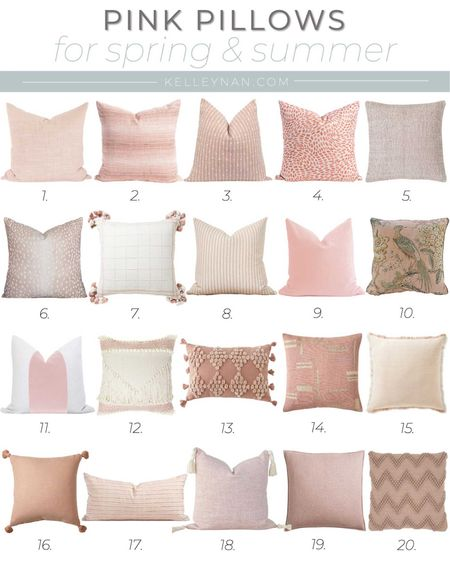 Pink throw pillows are the perfect decor accent for spring!  http://liketk.it/3cn1P #liketkit @liketoknow.it #LTKhome #LTKstyletip #LTKunder100 home decor bedroom decor nursery decor spring decor spring accessories blush pillow neutral pillow