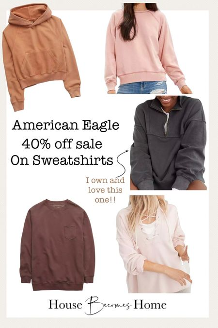 American Eagle 40% off sale on sweatshirts!!   #LTKunder50 #LTKsalealert #LTKGiftGuide
