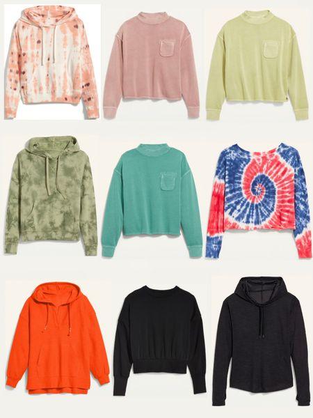 Old Navy Sweatshirt sale 50% off. Women's fall fashion. Loungewear. Cozy.  #LTKunder50 #LTKSale #LTKsalealert