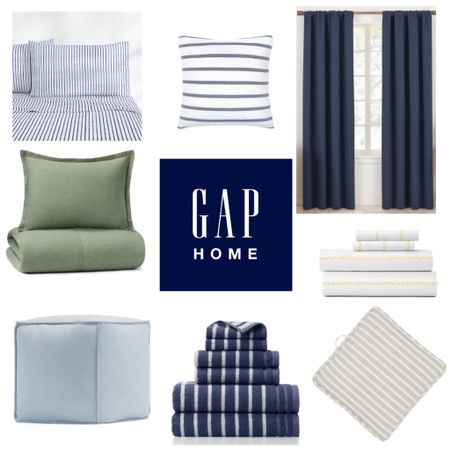 #ad Bedding and bath basics in classic colors and stripes. Introducing the new #GapHome collection sold exclusively at @walmart. #WalmartHome   #LTKhome #LTKunder50 #LTKunder100