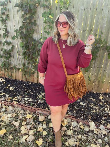 Dress size large (would prefer xl) Boots tts  #LTKunder50 #LTKcurves #LTKstyletip
