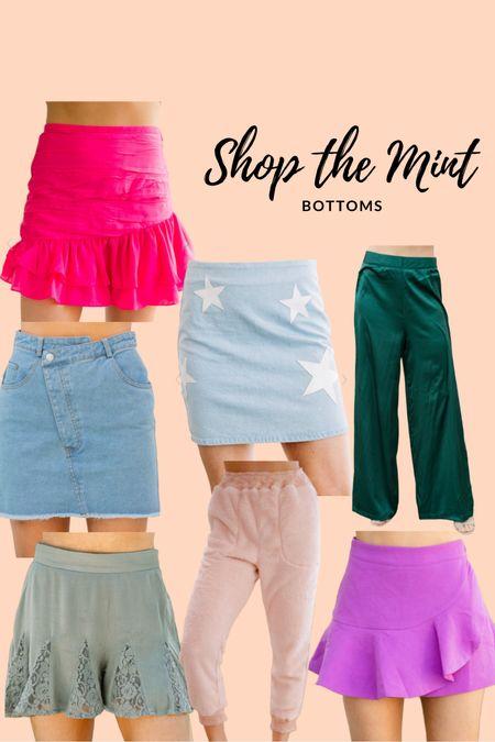 Shop the mint sale #jeanskirts #joggers #pinkskirt #flowypants  #LTKSeasonal #LTKsalealert #LTKbacktoschool