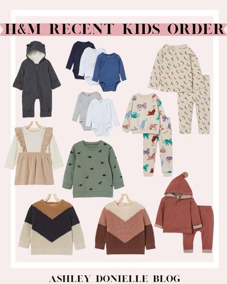 H&M recent kids order - two-piece sets, sweaters + more!  #LTKbaby #LTKSeasonal #LTKkids