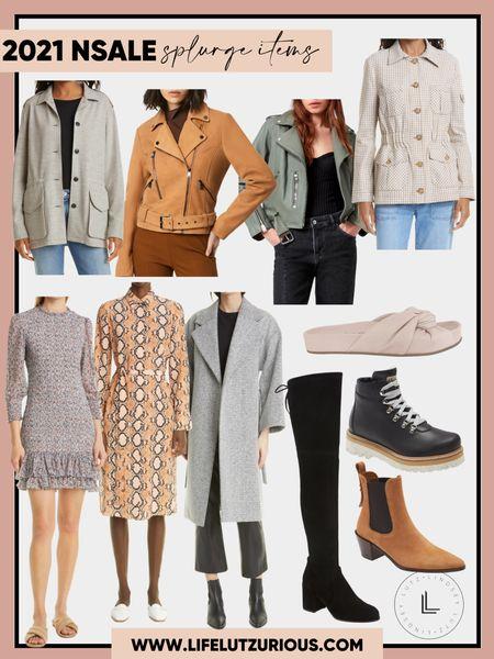 Splurge fashion items from the #nsale - jackets, boots, dresses   #LTKsalealert #LTKstyletip