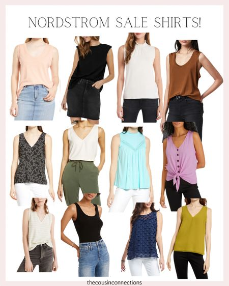 Nordstrom sale shirts fav!! All of these are great options for that perfect casual and chic summer outfit   Tanks  Summer tops  Summer outfit  Memorial Day  Mom fashion  Chic & casual   #LTKSeasonal #LTKunder50 #LTKsalealert